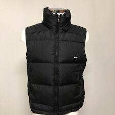 Nike Men's Down Filled Padded Gilet Size S Black Body Warmer Casual Vest 290326
