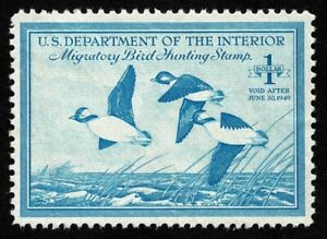 Scott#RW15 $1 Back of Book Federal Duck Mint NH OG Never Hinged Well Centered