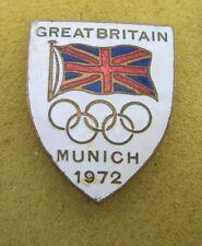 1972 Munich Olympics Great Britain NOC pin badge