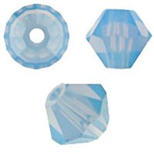 Swarovski Crystal Bicone. Air Blue Opal  Color. 4mm. Approx. 144 PCS. 5328