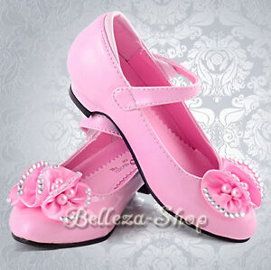 Flower Girl Dress Shoes Toddles Sz US10 UK9 Wedding Pageant GS005