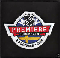 NHL PREMIERE STOCKHOLM PATCH DETROIT RED WINGS ST.LOUIS BLUES 2009/2010 SWEDEN