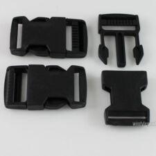 "10 X BLACK PLASTIC STRAP WEBBING SIDE 25MM RELEASE BUCKLES 1"" FOR CRAFT"