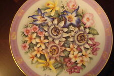 """Flowers of the World """"Flowers of Brazil"""" plate, signed,  Danbury Mint [am14]"""