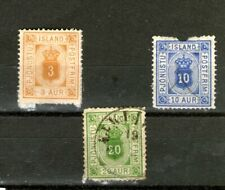 "1876 ICELAND ""OFFICE "" STAMPS / SOME DAMAGED/(MINT & USED-HINGED) CV $120+++"