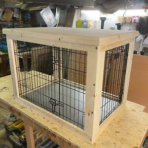 Indoor Dog Kennel Based On A 24 Inch Cage. Delivery See Listing