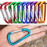 '5X Aluminum Carabiner D-Ring Key Chain Clip Snap Hook Karabiner Camping Keyring' from the web at 'https://i.ebayimg.com/thumbs/images/g/VcQAAOSw32lYvkVI/s-l96.jpg'