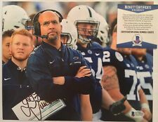 JAMES FRANKLIN SIGNED PENN STATE NITTANY LIONS 8x10 PHOTO BECKETT BAS COA D32875