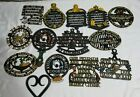 Lot of 14 Assorted Vintage Cast Iron Trivets Wall Art Kitchen Metal