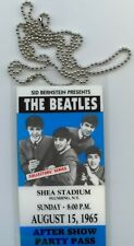 1965 Beatles Shea Stadium Concert Backstage Aftershow Party  Pass