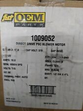 New 1009052 OEM Direct Drive PSC 1/2 HP Furnace Blower Motor - Emerson 115V 10A