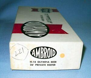 6192_AMBROID HO SCALE OLYMPIA BEER REFFER UNBUILT CRAFTSMAN KIT NOS