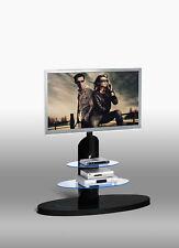 TV Rack Ablage Halterung Unterschrank inkl. LED Licht Schwarz Hochglanz TV681