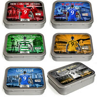 Football Tobacco Tin 2oz Baccy Storage Pill Box Mens Personalised ALL TEAMS AF