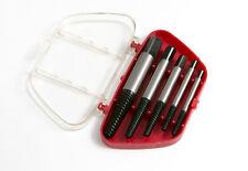 """5pc Vite Estrattori Set Con Custodia 3mm - 19mm 1/8 - 3/4 """"confezione da 12 Set di 5"""
