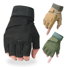 Tactical Half-finger Gloves Men's Motorcycle Motorbike Biker Riding - Fingerless