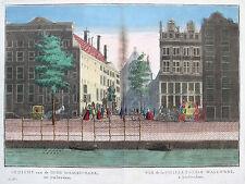 Remondini: Altkol. Guckkastenblatt Amsterdam Waalse Kerk Nederland; um 1780