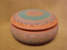 Navajo Pottery Hand Etched Trinket Box by Michael Charlie!