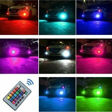 16Color RGB H9/H8/H11 LED Bulbs w/ Wireless IR Remote For Fog Light Driving Lamp