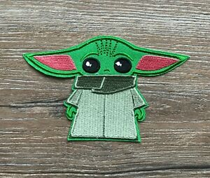 Star Wars Baby Yoda Patch Aufnäher Bügelbild Movie Film Mandalorian Jedi