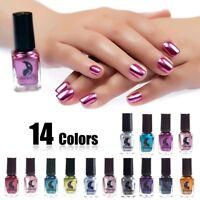 6ml Metallic Nail Polish Mirror Glitter Effect Chrome Varnish Manicure Nail Art