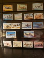 Ascension Island Aircraft & Aviation Stamps Lot of 24 - MNH-See Details for List