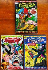 3 AMAZING SPIDER-MAN #102,103,104 Full RUN MARVEL COMICS 1963 SET lot G/F/VF