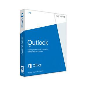 Microsoft Outlook 2013 32-Bit/X64 English RETAIL BOX.  NOT A FAKE !  WE POST IT