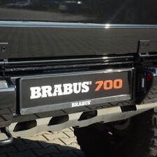 BRABUS Kennzeichenhalter Kennzeichenverstärker Set schwarz mit BRABUS Logo