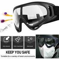 Sealed Clear Shield Goggles UV Eye Protection Safety Glasses Lab Work Eyewear