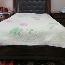 POTTERY BARN KIDS Pink/Green/Yellow  Garden Quilt Comforter Full/Queen Floral