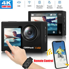 Campark 4K/30fps Action Camera 20MP WiFi Sports Dual Screen EIS Video Camcorder