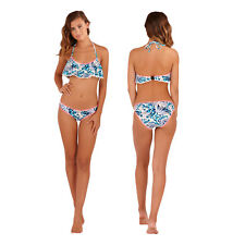 Boutique Womens Halter Neck Frill Bikini Ladies Floral Tie Neck Swimwear Set