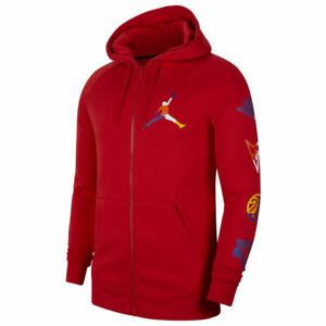 Nike Air Jordan Jump-man Men's Full Zip Hoodie Jacket Size Large