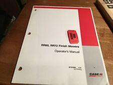 Case Rr60 Amp Rr72 Finish Mower Operators Manual 87757962 One Used