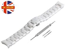 For EMPORIO ARMANI AR1404 Ceramic White Full Strap/Band/Bracelet Watch 18mm