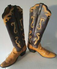 Mens Rios of Mercedes Tall inlaid Cowboy Boots sz 12 AAA Fabulous!!!!