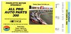 1993+ALL+PRO+AUTO+PARTS+300+Ticket+Stub+CHARLOTTE+MOTOR+SPEEDWAY+Mark+Martin