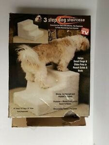 3 Step Dog Staircase Stairs Lightweight & Padded with Removable Cover NEW