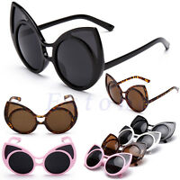 2018 Women's Retro Cat Eye Sunglasses Vintage Shades Oversized Designer Eyewear