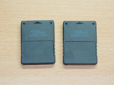 2x Memory Card Speicherkarte 128 MB für Playstation 2 PS2 PS 2