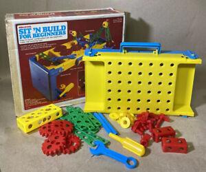 Vintage 1983 Shelcore Sit N'Build Tool Bench Construction Set - Rare!!