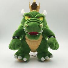 "New Super Mario Bros. Green King Bowser Koopa Plush Soft Toy Doll Teddy 11"""