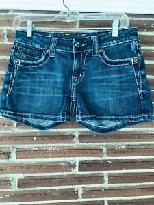 Miss Me Size 28 rhinestone Embroidered Bling Jean Shorts Nice!