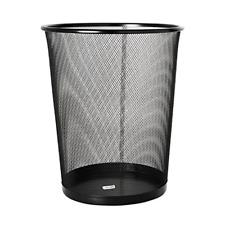 Metal Mesh Waste Basket Garbage Bin Trash Paper Container Desk Side Office, New
