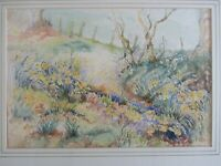 """Daffodils"". A Watercolour Painting and Pen, by ""Marjorie Goodliffe. Unframed."