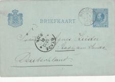 Briefkaart 18 okt 1881 Boxmeer (kleinrond) naar Stade Duitsland