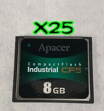 x25 (Pcs) Apacer 8Gb Industrial Cf5/Cf6 Compact Flash Cf Memory Card.