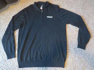 TREK Bontrager Men's pullover 1/4 zip sweater, black, XL