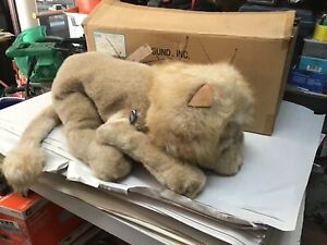 "Vintage New old stock large 24"" Stuffed Gund pride Lion Hangtag Plush Animal Toy"